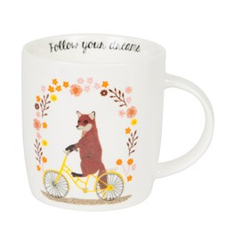 Follow Your Dreams Fox on  Bike Mug