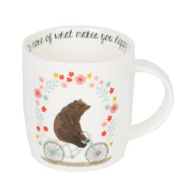 Do More of What Makes You Happy Bear on  Bike Mug