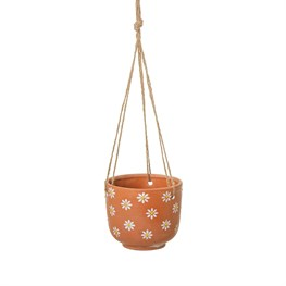 Hanging Mum Terracotta Planter