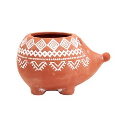Terracotta Hedgehog Planter