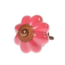 Patricia Vintage Shade Drawer Knob - Dark Pink