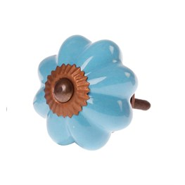 Patricia Vintage Shade Drawer Knob - Blue