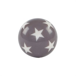 Grey Round Star Drawer Knob
