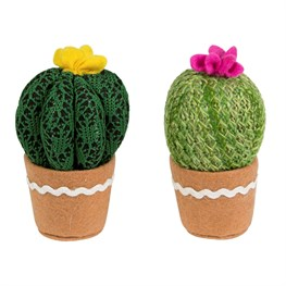 Colourful Cactus Fabric Round Decoration  (options available)