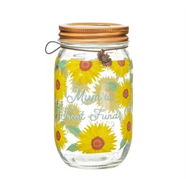 Sunflower Mum Money Jar