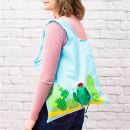 Colorful Cactus Foldable Shopping Bag