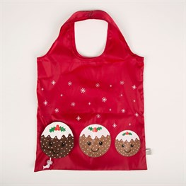Christmas Pudding Foldable Shopping Bag