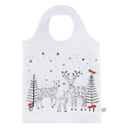 Winter Forest Folk Deer Foldable Shopping Bag