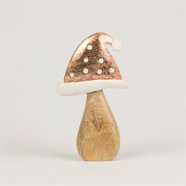 Copper Santa Hat Toadstool Decoration Medium