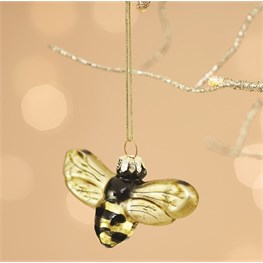 Golden Bee Shaped Bauble