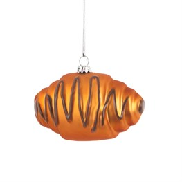 Chocolate Croissant Shaped Bauble
