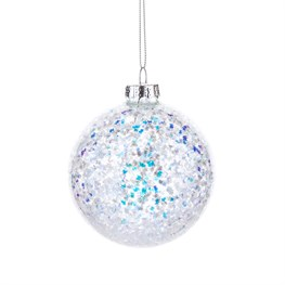 Ice Sphere Glimmer Bauble