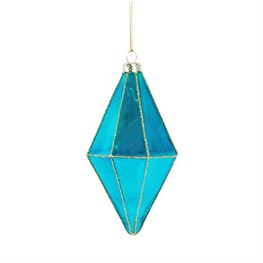 Blue Shine Bright Diamond Drop Shaped Bauble