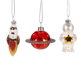 Outer Space Shaped Baubles - Set of 3