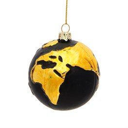 Gold Planet Earth Shaped Bauble