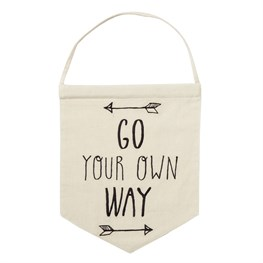 Go Your Own Way Arrow Message Flag