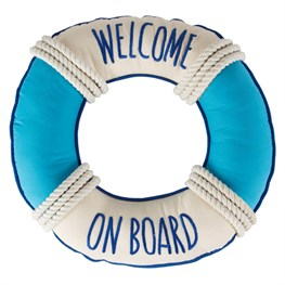 Welcome on  Board Ring Cushion