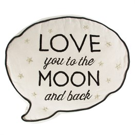 Love You to the Moon Speech Bubble Cushion