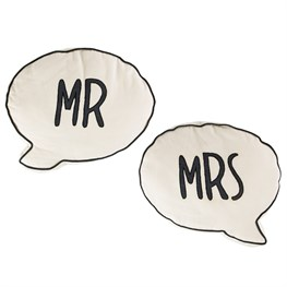 Mr & Mrs Speech Bubble Cushion (options available)