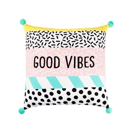 Memphis Modern Good Vibes Cushion Cover