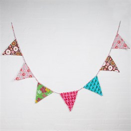 Bright Retro Fabric Triangle Bunting
