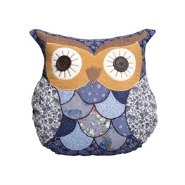 Marion Patchwork Owl Cushion