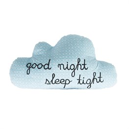 Blue Good Night Sleep Tight Cloud Cushion