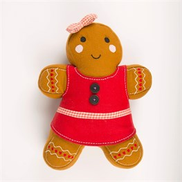 Dolly Gingerbread Girl Cushion with Inner