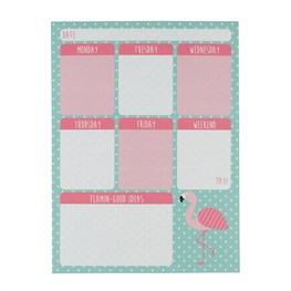 Tropical Flamingo Weekly Planner Pad