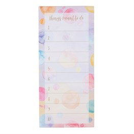 Paint Splash To-Do List Notepad