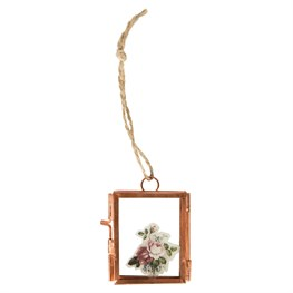 Copper Finish Mini Hanging Photo Frame