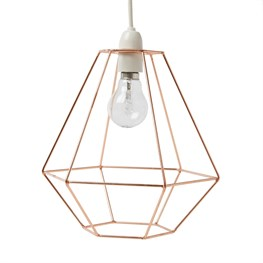 Lighting copper wire diamond lampshade greentooth Gallery