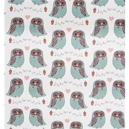 Forest Owl Wrapping Paper  - 3 Sheets