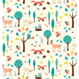 Whimsical Woodland Wrapping Paper  - 3 Sheets