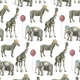 Party Animals Wrapping Paper  - 3 Sheets