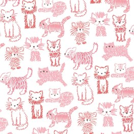 Fluffy Cat Wrapping Paper  - 3 Sheets