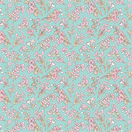 Mint Grace Floral Wrapping Paper  - 3 Sheets