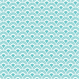 Salma Moroccan Geometrics Wrapping Paper Blue  - 3 Sheets