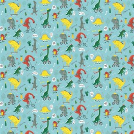 Dino Skate Park Wrapping Paper