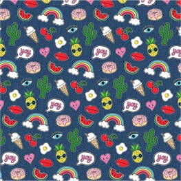 Patches & Pins Wrapping Paper