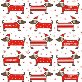 Christmas Dachshund Wrapping Paper