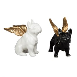 Bulldog with Gold Wings Decoration  (options available)