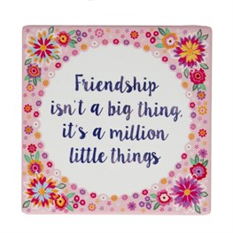 Friendship is a Million Flower Pop Coaster