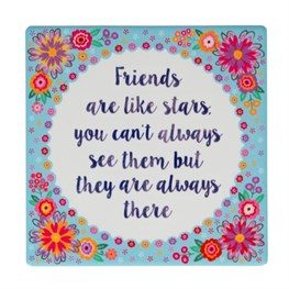 Friends Are Like Stars Flower Pop Coaster