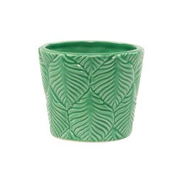 Embossed Leaf Print Planter