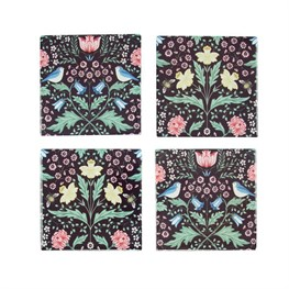 Set of 4 Midnight Garden Coasters