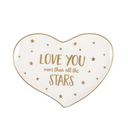 Modern Monochrome Love You Stars Trinket Dish
