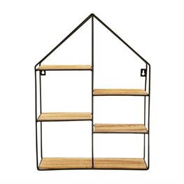 Large Black House Shelf