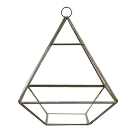 Black Pyramid Shape Terrarium Planter