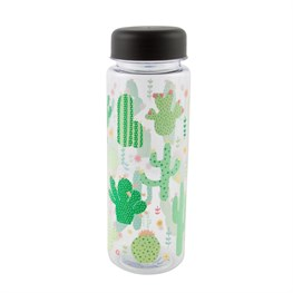 Colorful Cactus Clear Water Bottle